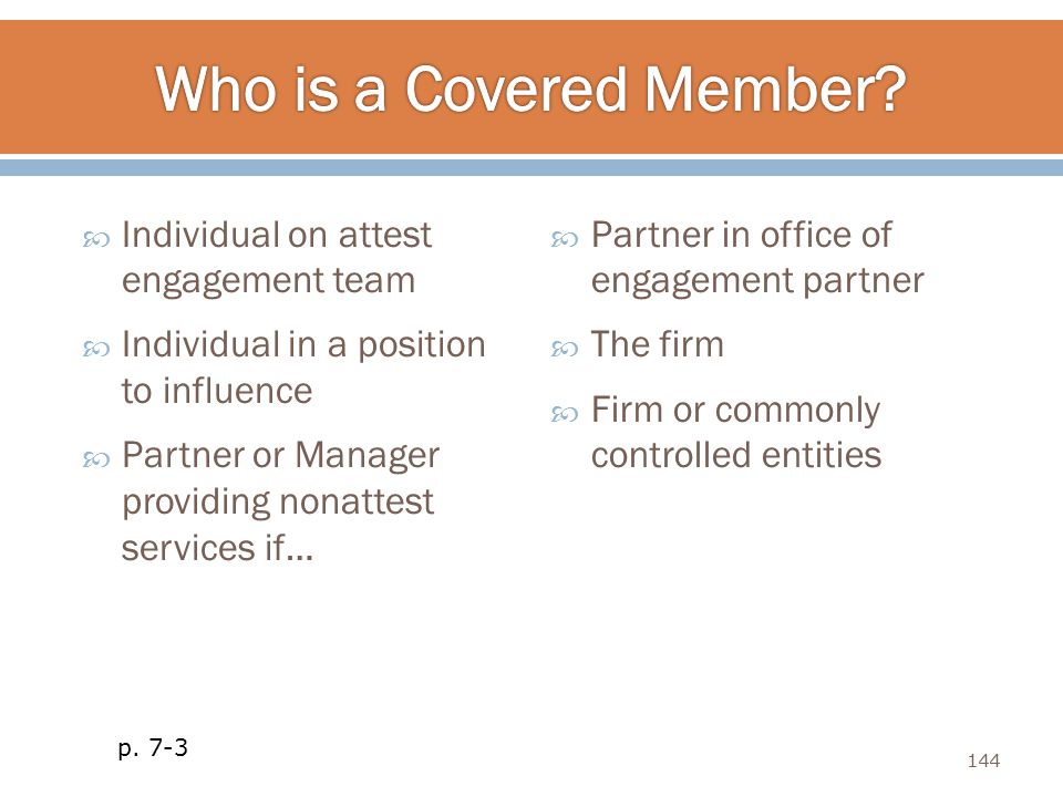 Who is a Covered Member Individual on attest engagement team