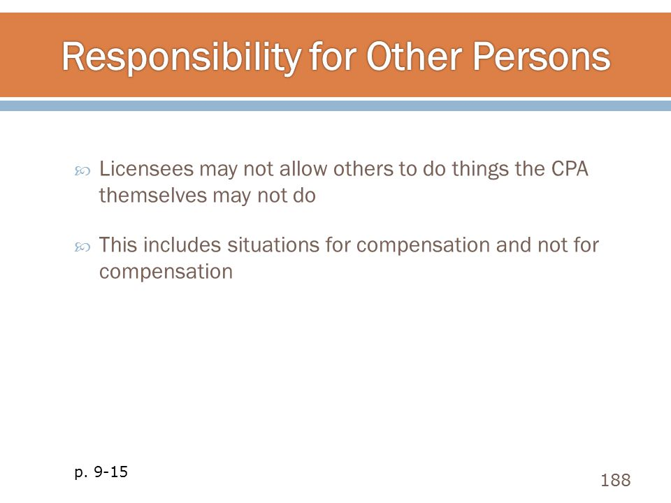 Responsibility for Other Persons