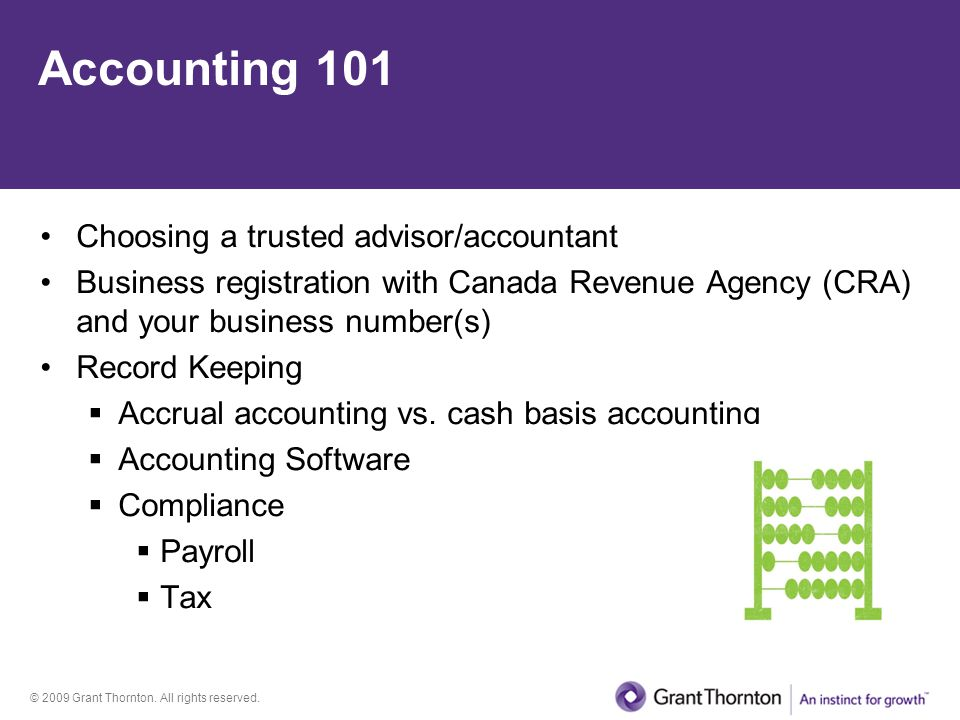 Accounting 101 Choosing a trusted advisor/accountant