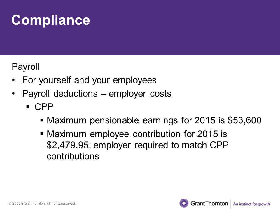 Compliance Payroll For yourself and your employees