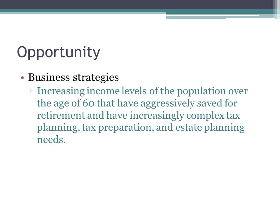 Opportunity Business strategies