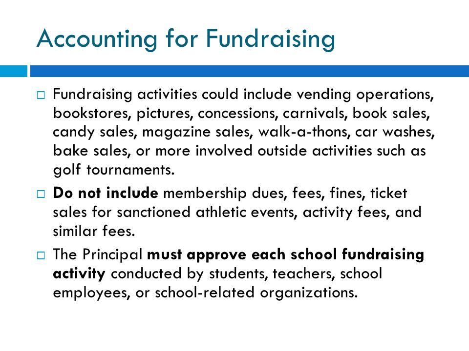 Accounting for Fundraising