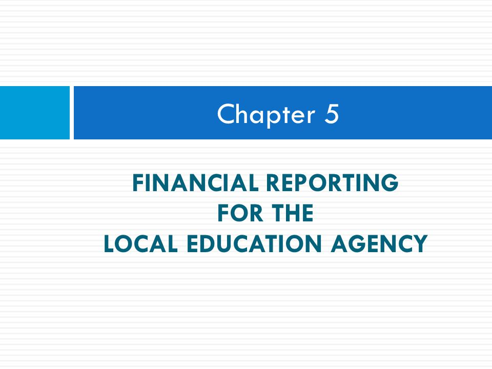 LOCAL EDUCATION AGENCY