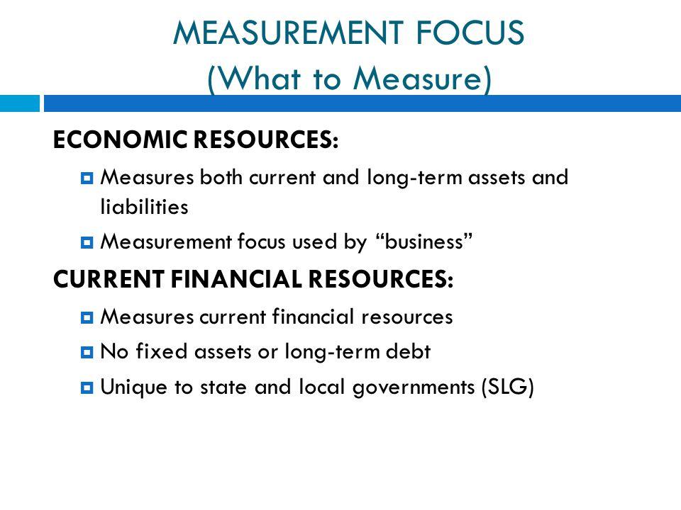 MEASUREMENT FOCUS (What to Measure)