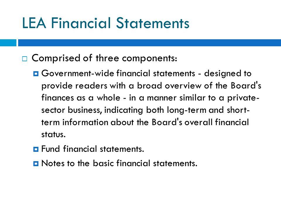 LEA Financial Statements