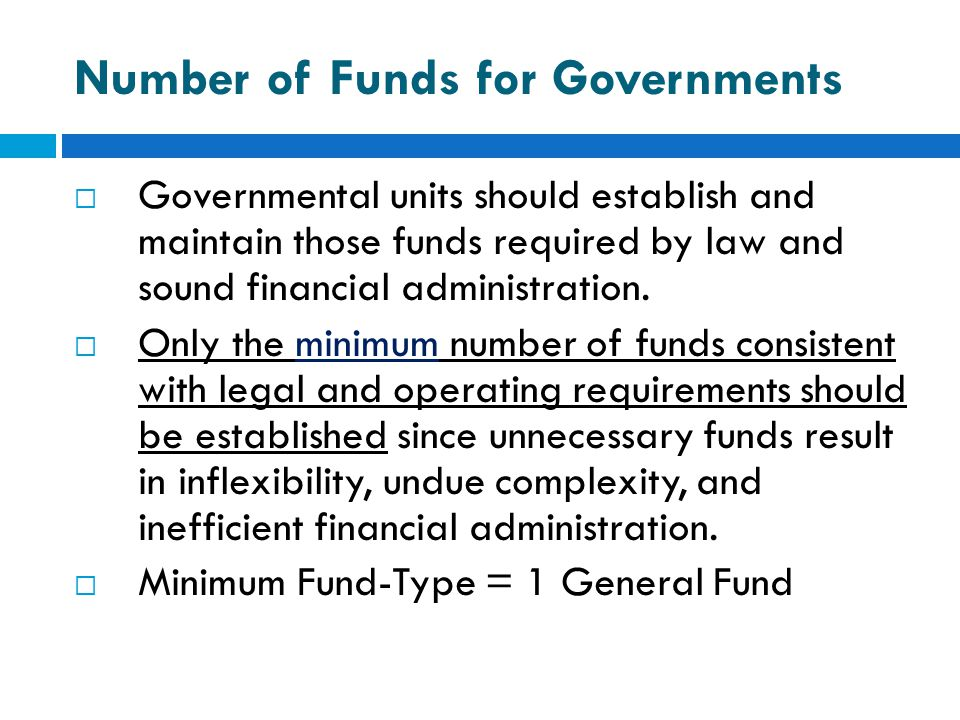 Number of Funds for Governments