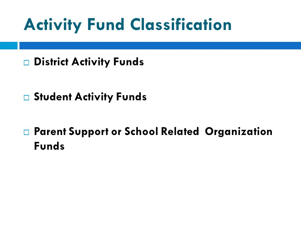 Activity Fund Classification