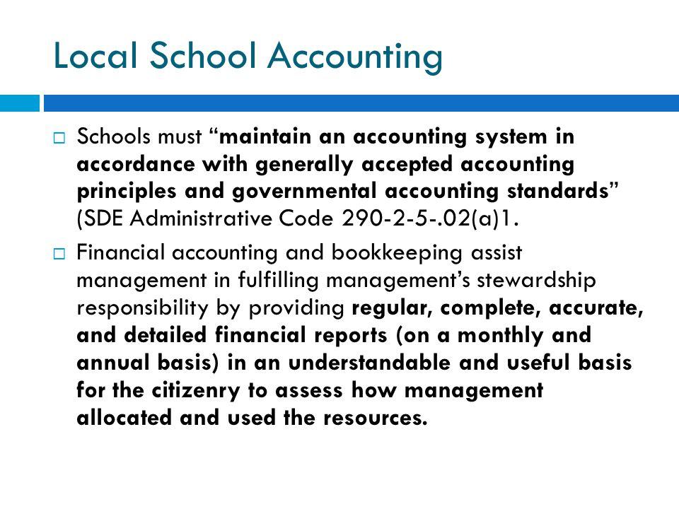 Local School Accounting