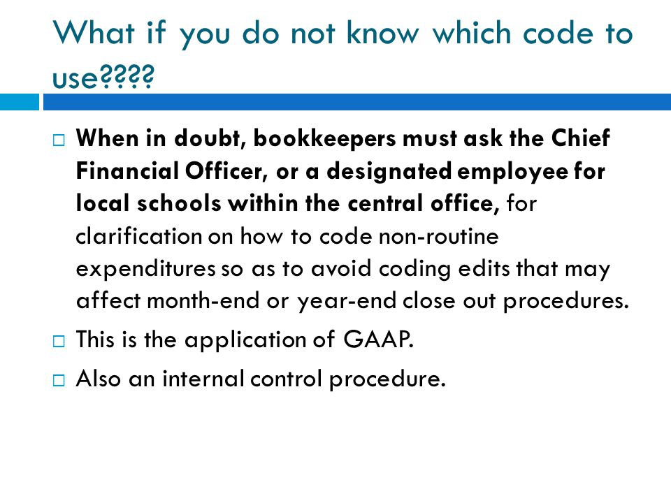 What if you do not know which code to use