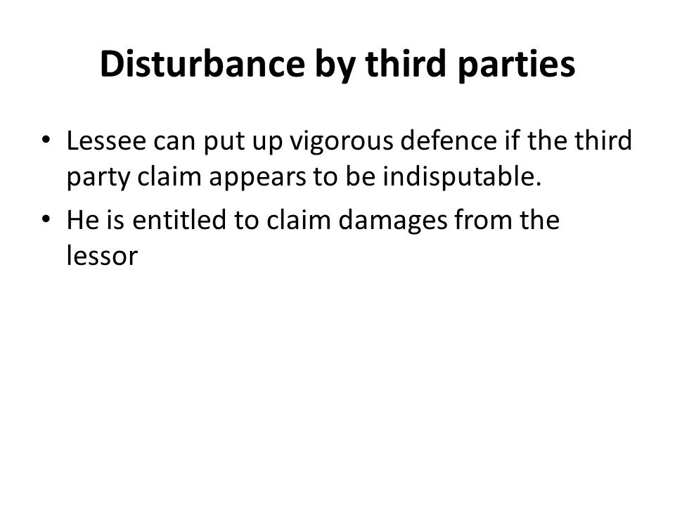 Disturbance by third parties