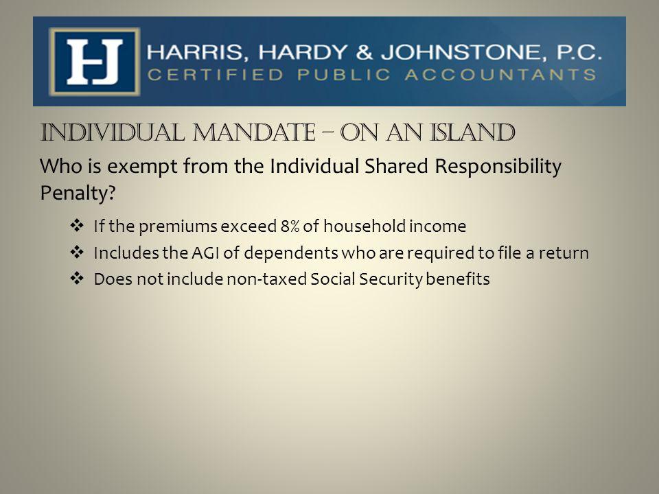 Individual Mandate – On an Island