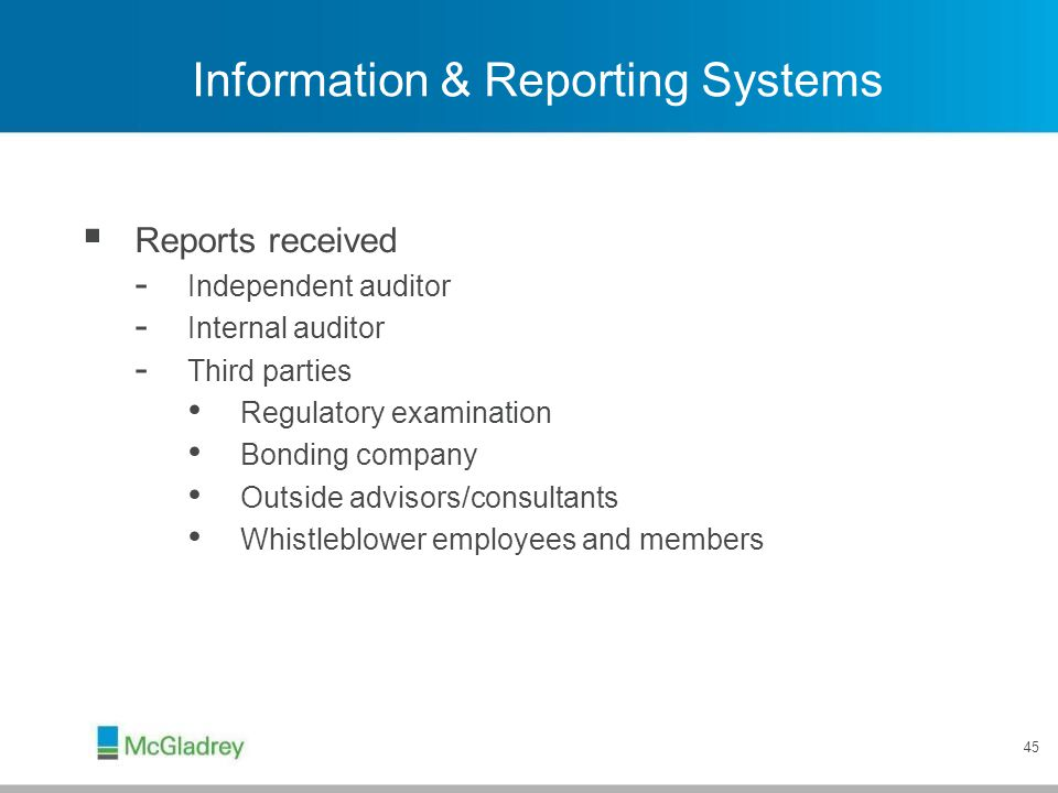 Information & Reporting Systems
