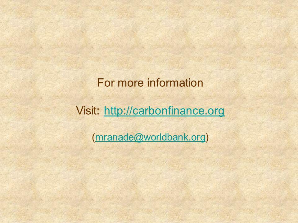 Visit: http://carbonfinance.org