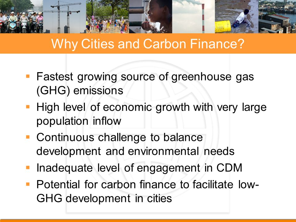 Why Cities and Carbon Finance
