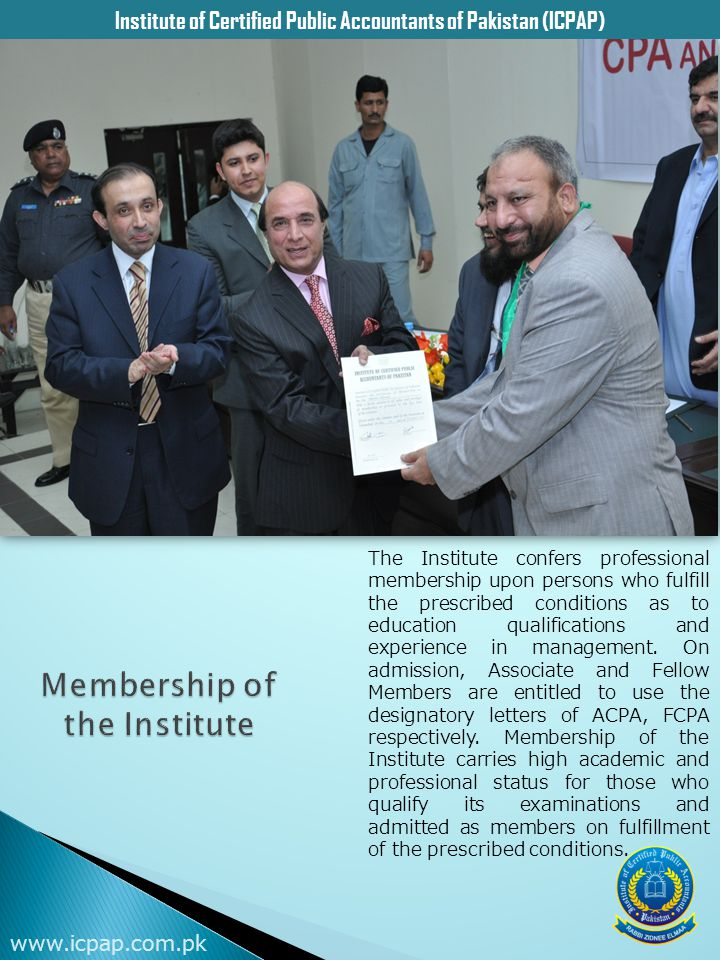 Membership of the Institute