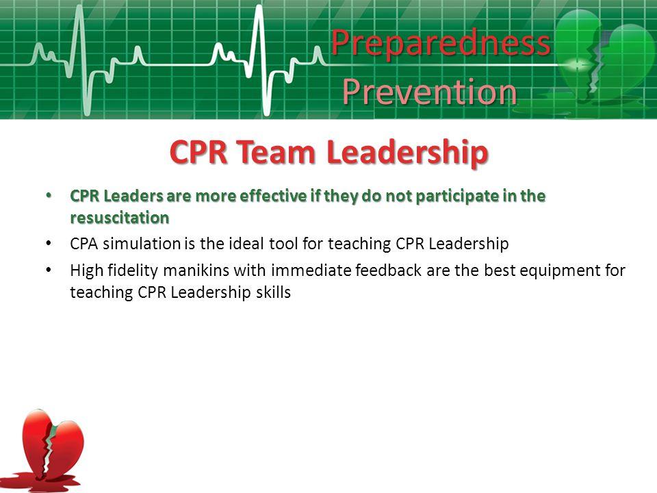 Preparedness Prevention CPR Team Leadership