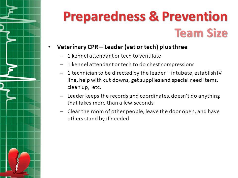 Preparedness & Prevention