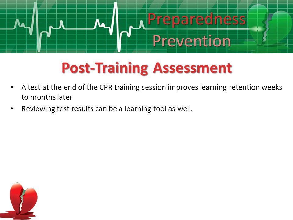 Post-Training Assessment