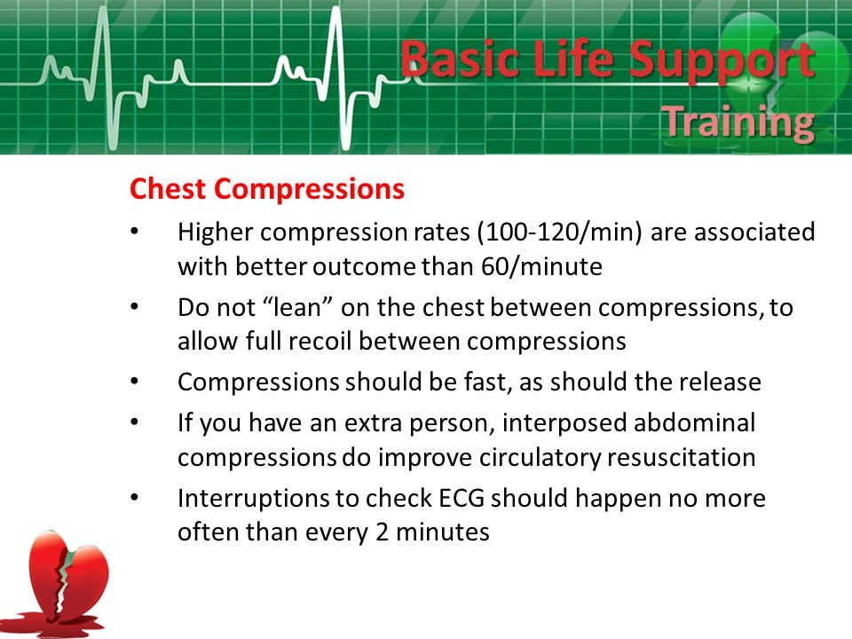 Basic Life Support Training Chest Compressions