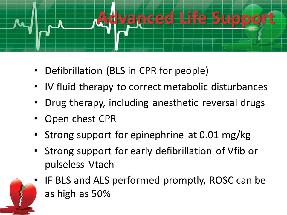 Advanced Life Support Defibrillation (BLS in CPR for people)