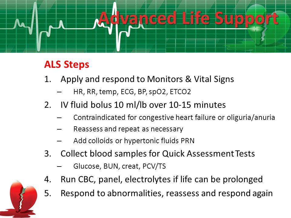 Advanced Life Support ALS Steps