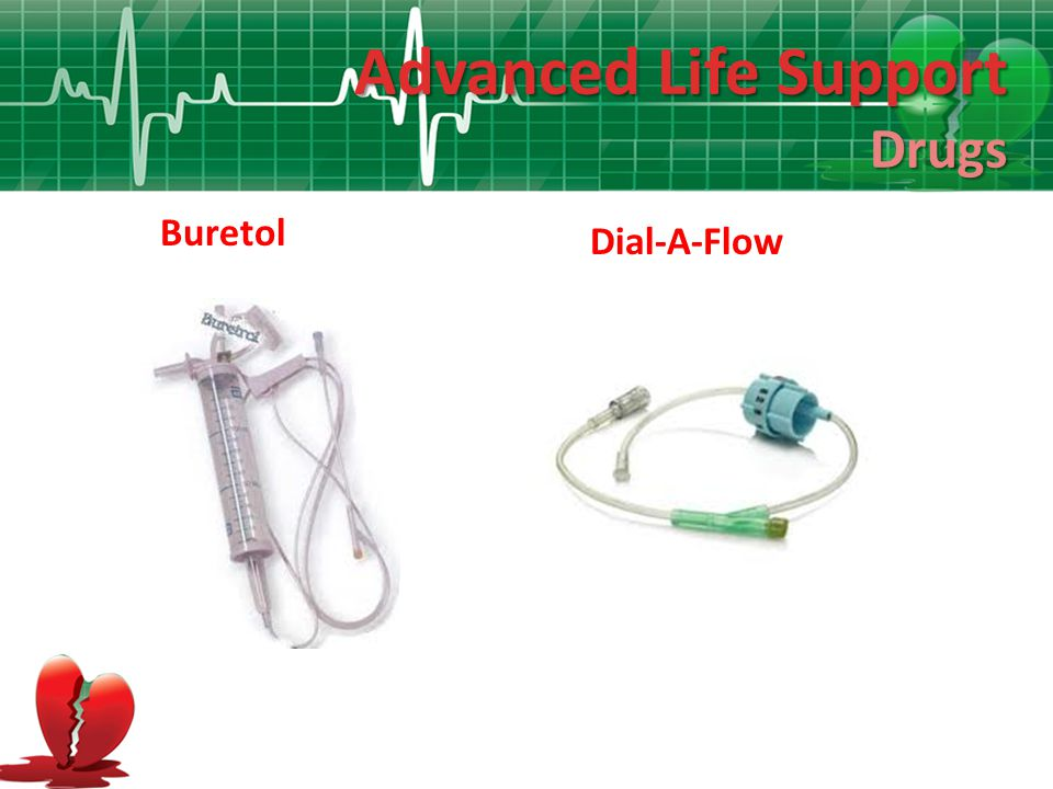 Advanced Life Support Drugs Buretol Dial-A-Flow