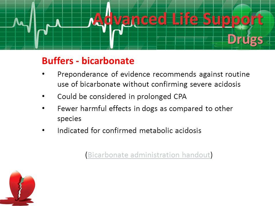 (Bicarbonate administration handout)