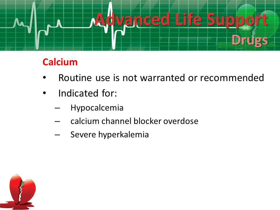 Advanced Life Support Drugs Calcium