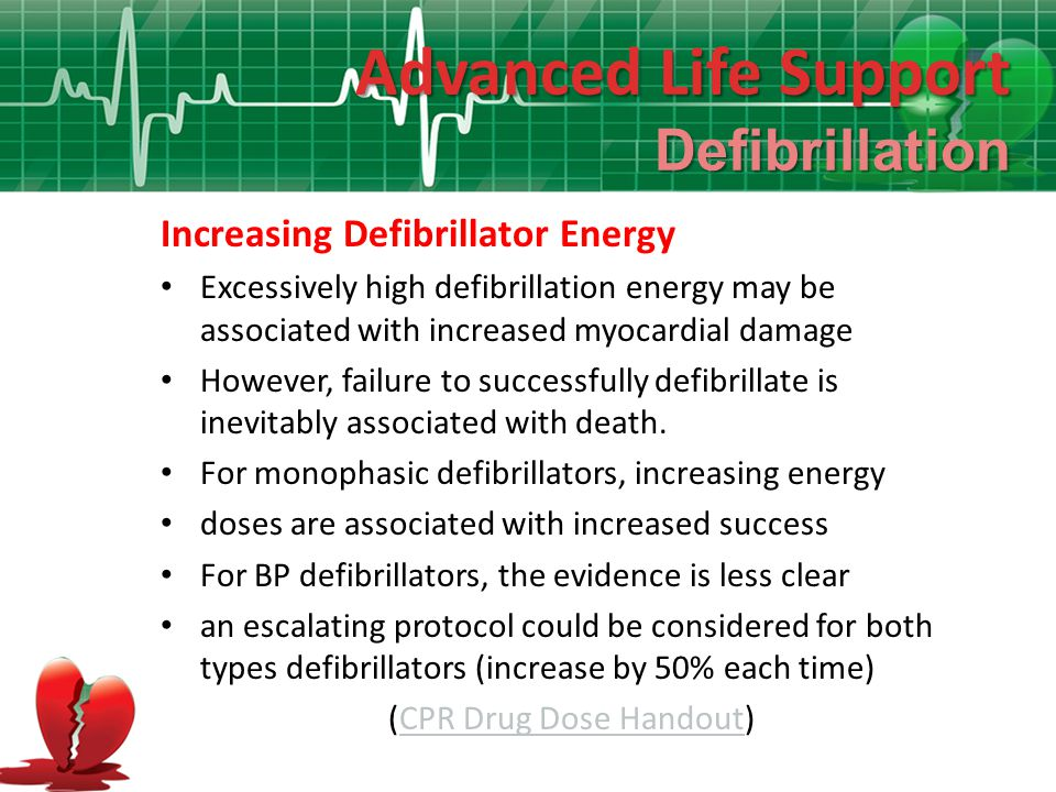 (CPR Drug Dose Handout)