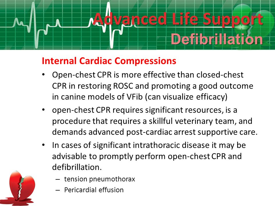 Advanced Life Support Defibrillation Internal Cardiac Compressions