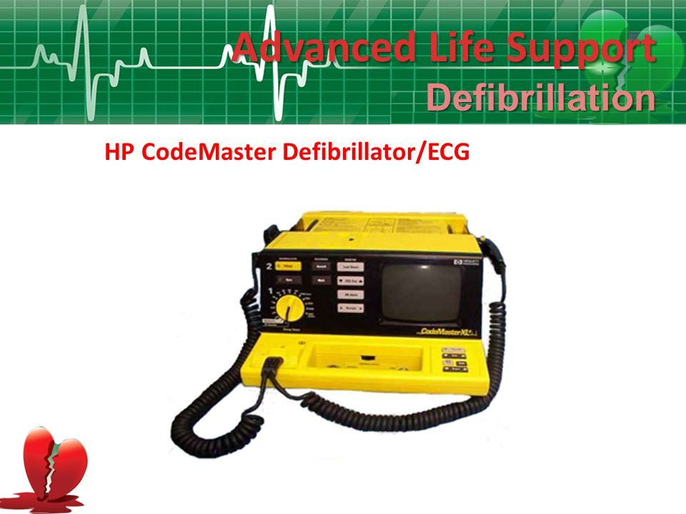 Advanced Life Support Defibrillation HP CodeMaster Defibrillator/ECG
