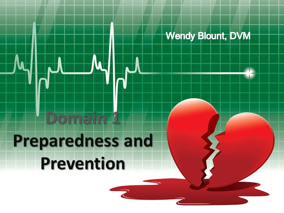 Domain 1 Preparedness and Prevention