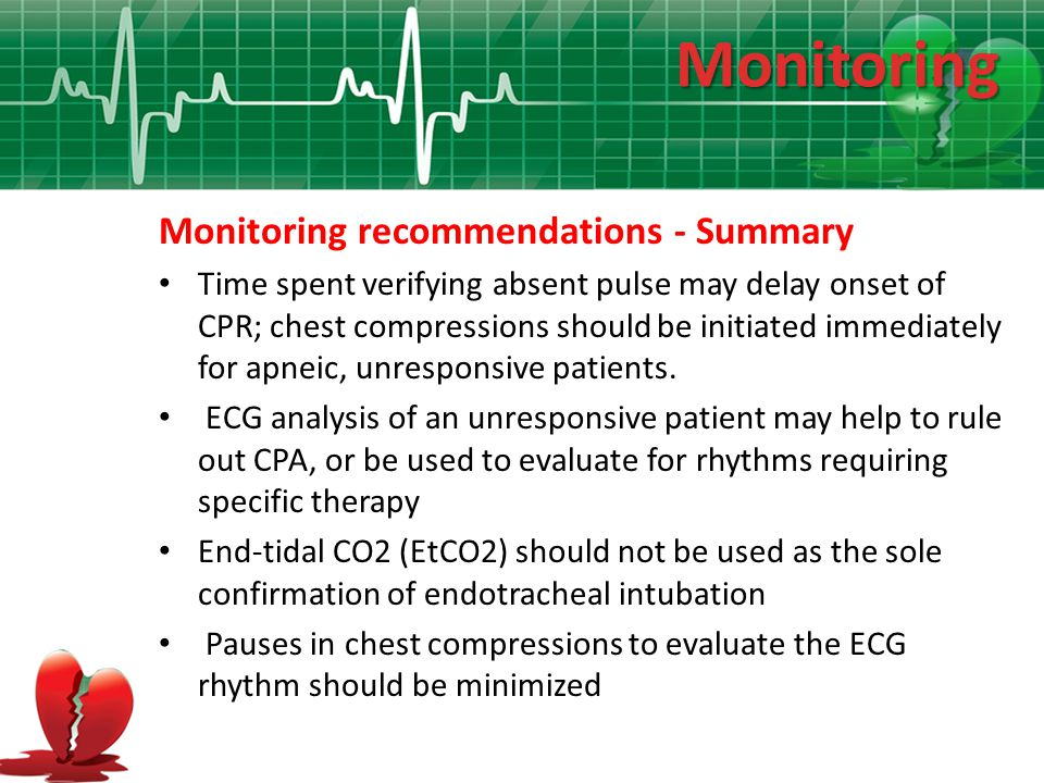 Monitoring Monitoring recommendations - Summary