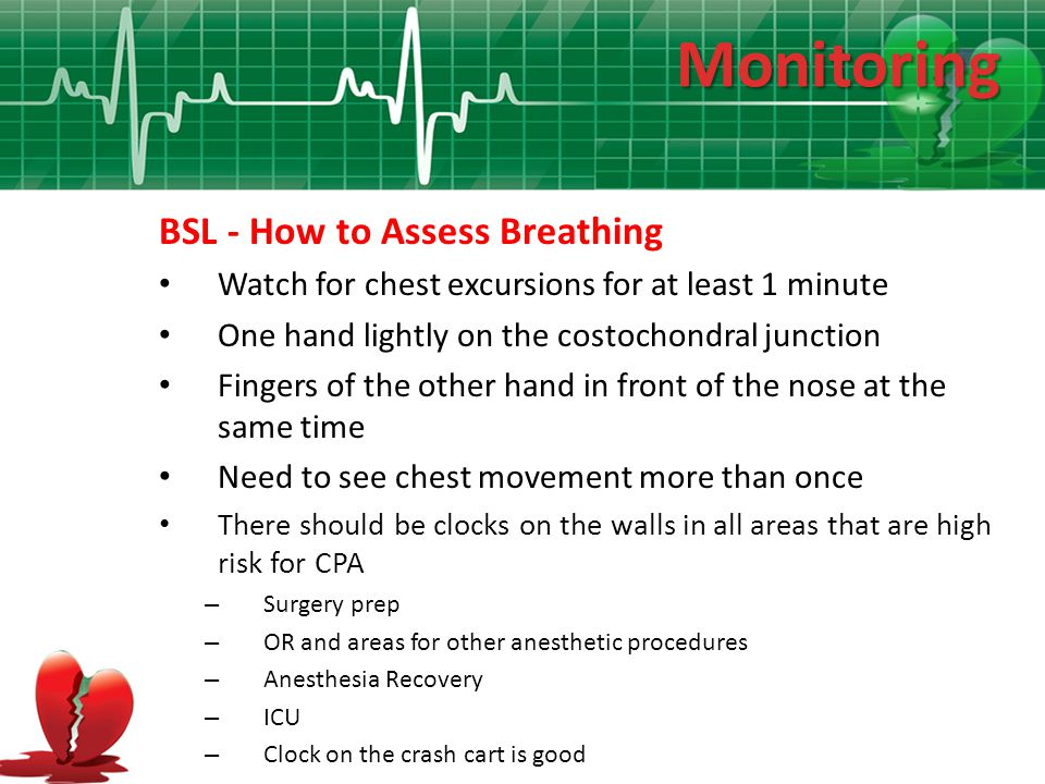 Monitoring BSL - How to Assess Breathing