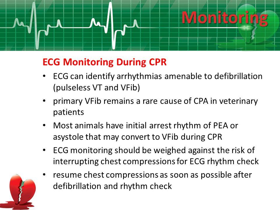 Monitoring ECG Monitoring During CPR