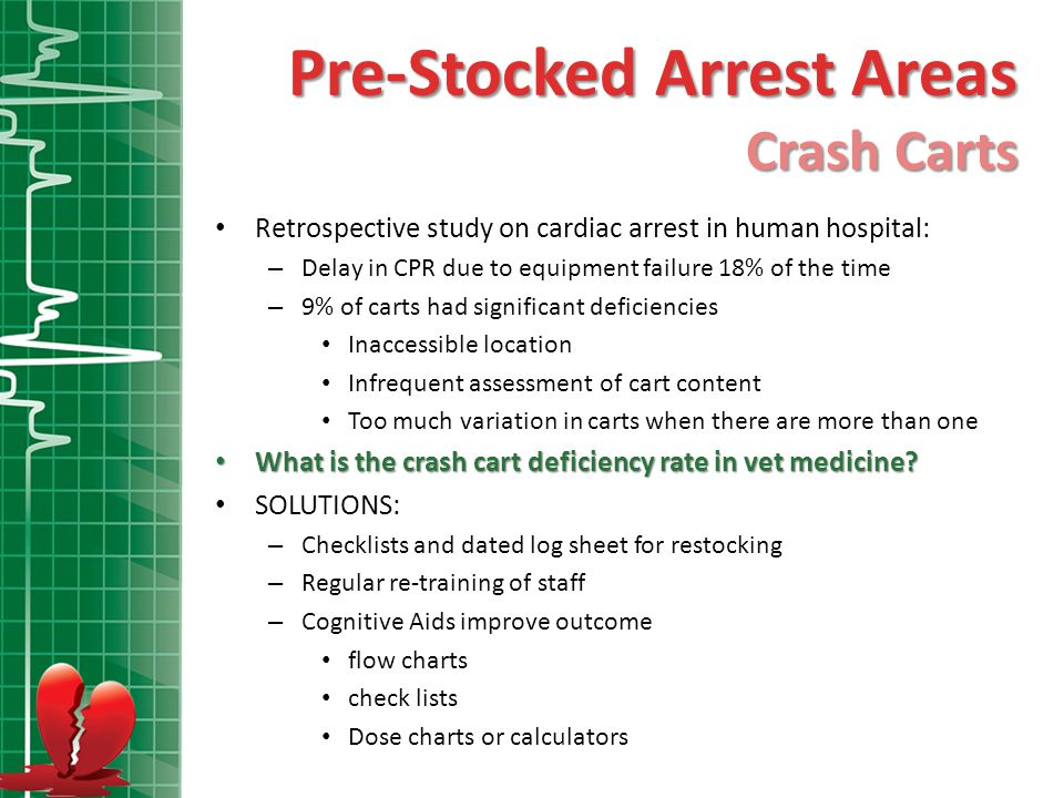 Pre-Stocked Arrest Areas