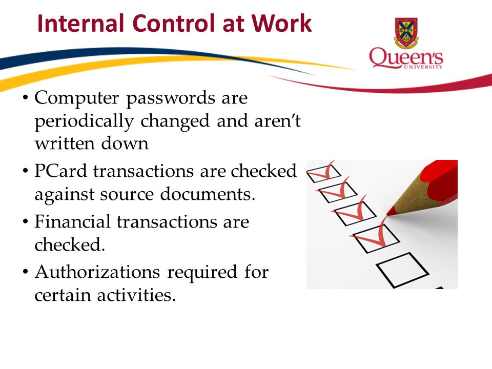 Internal Control at Work