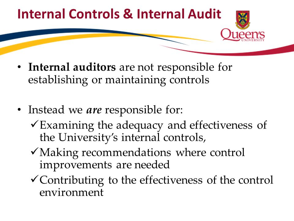Internal Controls & Internal Audit
