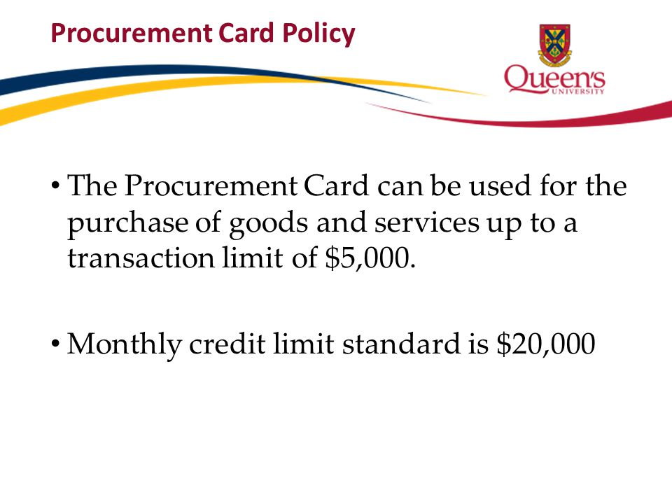 Procurement Card Policy