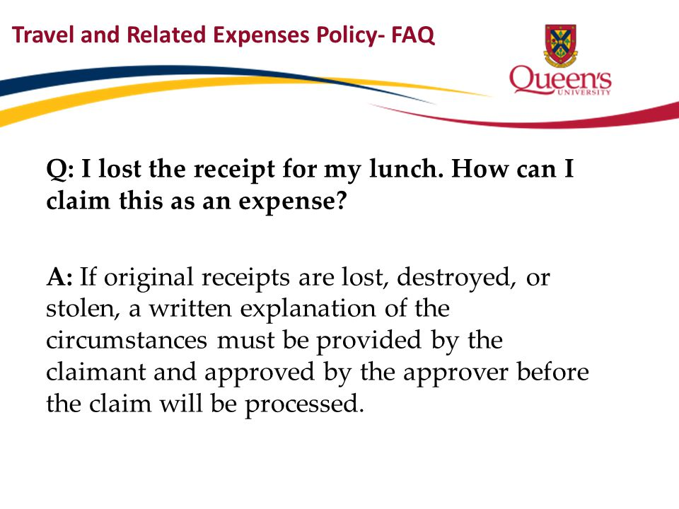 Travel and Related Expenses Policy- FAQ