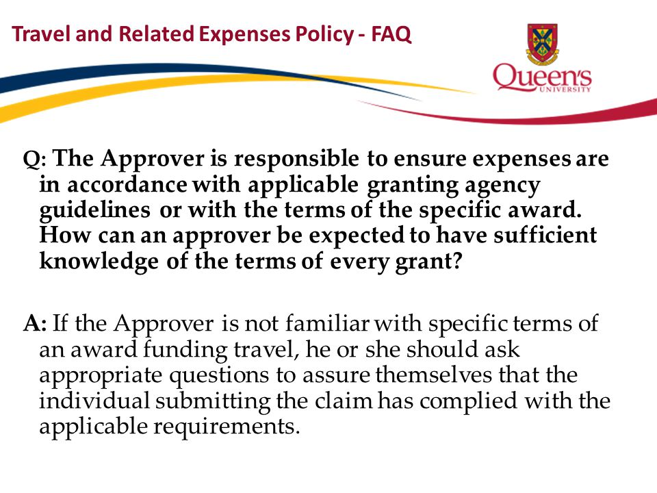 Travel and Related Expenses Policy - FAQ