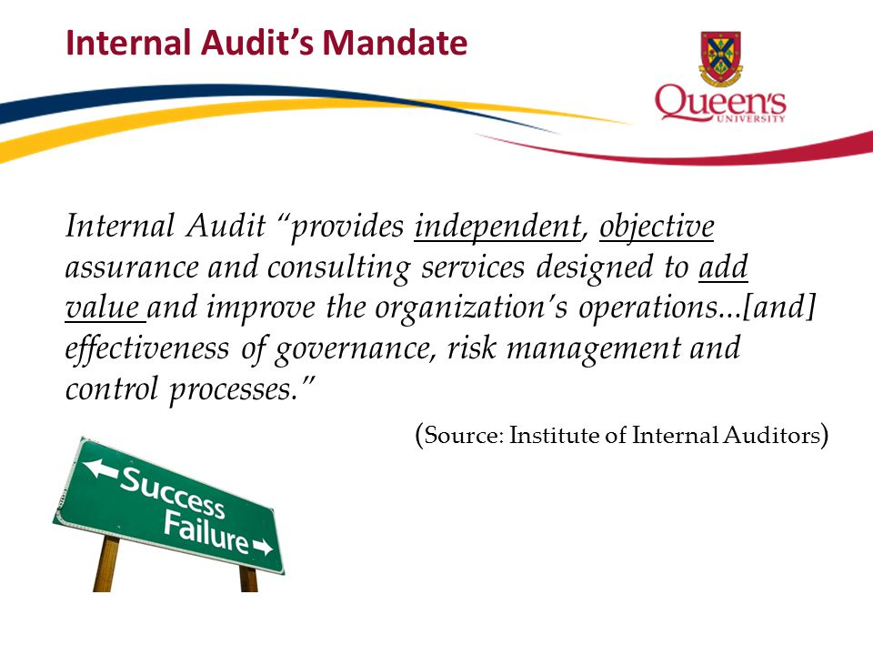 Internal Audit's Mandate
