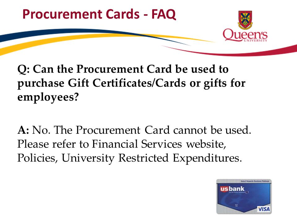 Procurement Cards - FAQ