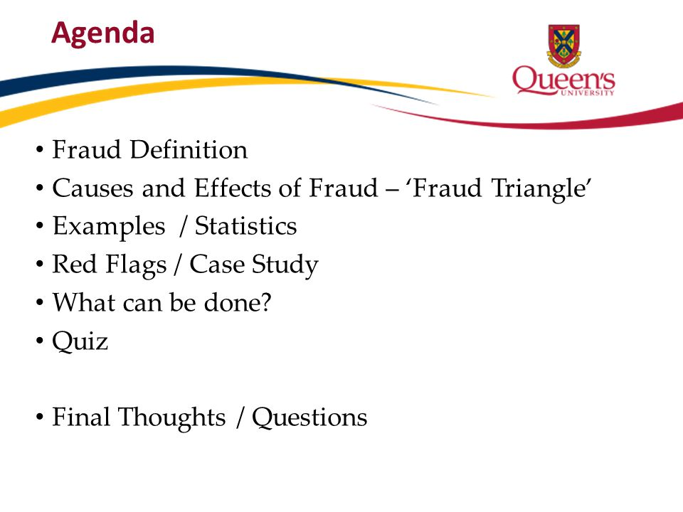 Agenda Fraud Definition Causes and Effects of Fraud – 'Fraud Triangle'