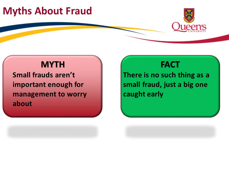 Myths About Fraud MYTH FACT