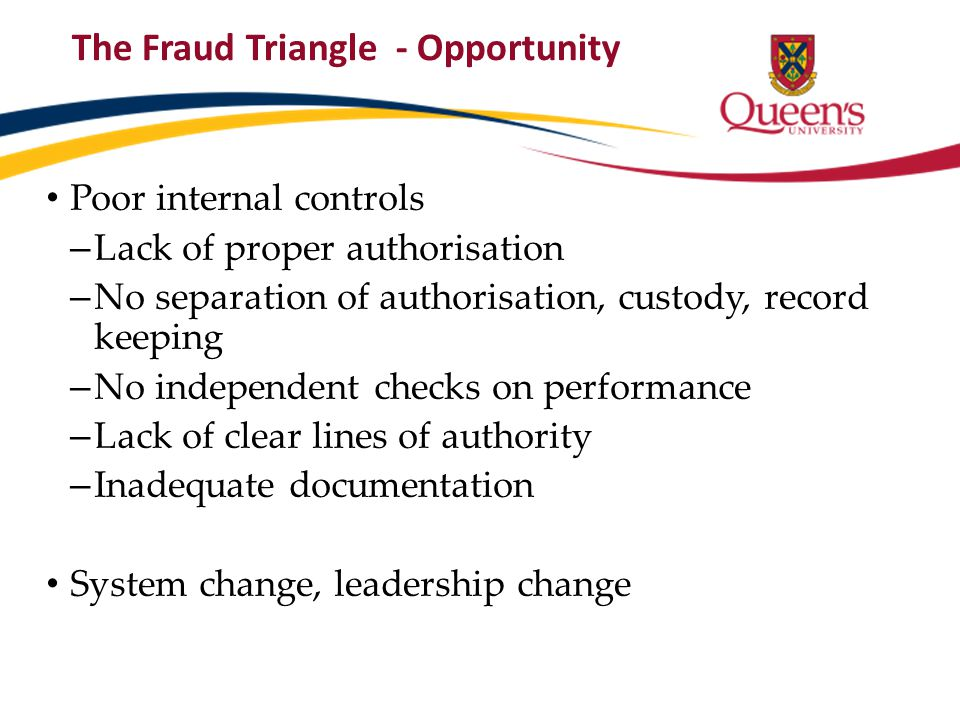 The Fraud Triangle - Opportunity