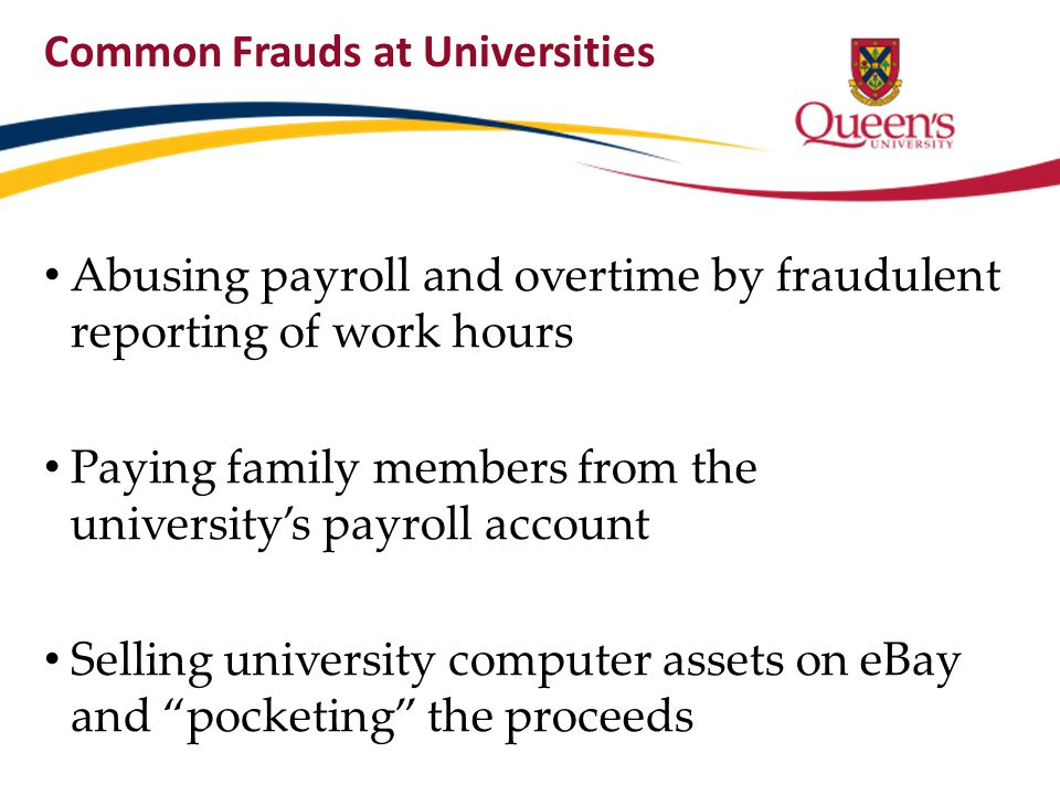 Common Frauds at Universities