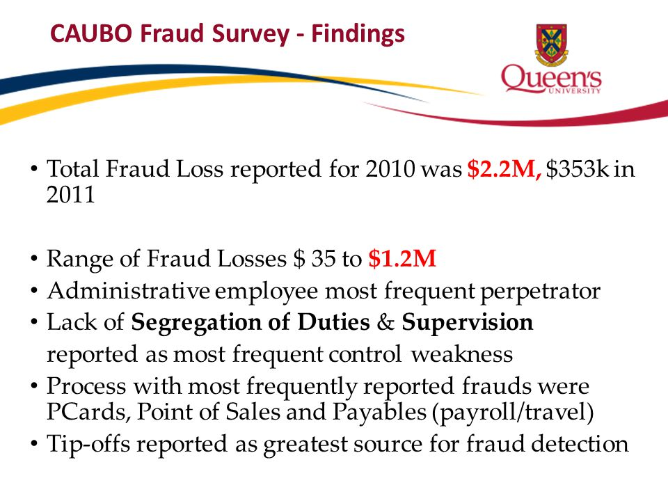 CAUBO Fraud Survey - Findings