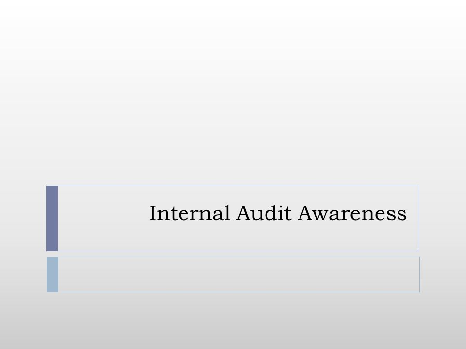 Internal Audit Awareness