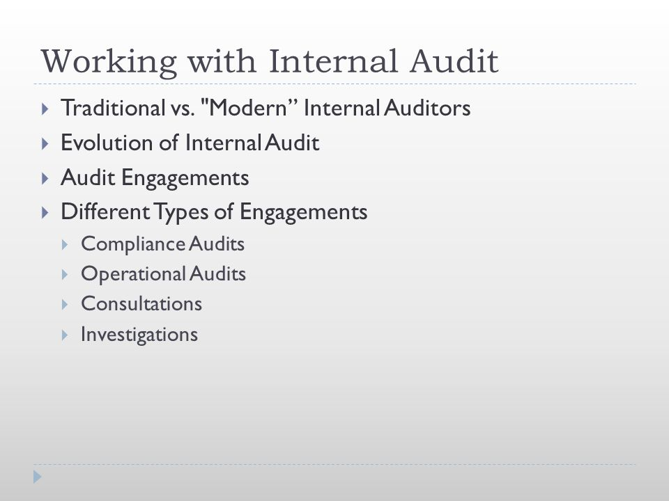 Working with Internal Audit